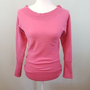 Alice + Olivia pink cashmere sweater Sz Small